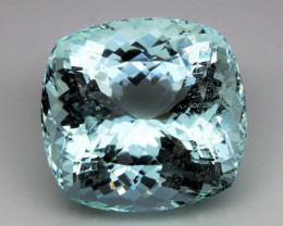 Unheated - 32.20 ct Natural Earth Mined Blue Aquamarine – IGE Certificate