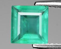 1.16 Cts Natural Vivid Green Zambian Emerald Loose Gemstone