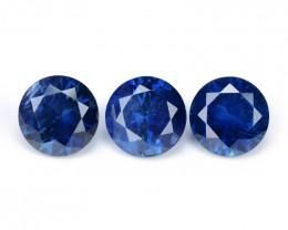 1.90 Cts 3 Pcs Amazing Rare Natural Fancy Blue Sapphire Loose Gemstone