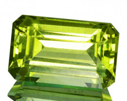 ~EMERALD CUT~ 3.42 Cts Natural Green Apatite Octagon Brazil