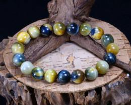 146.05Ct Natural Iron Tiger Eye Beads Bracelet AB3919