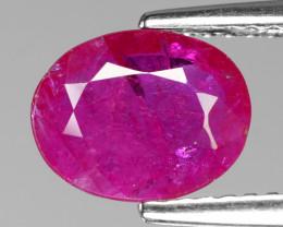 *No Reserve*1.40 Cts Pinkish Red Natural Ruby BURMA  Loose Gemstone