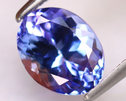 Tanzanite 1.70Ct Natural VVS Purplish Blue Tanzanite D0218/D4