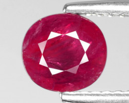 *No Reserve*Ruby BURMA 1.45 Cts Pinkish Red Natural Loose Gemstone