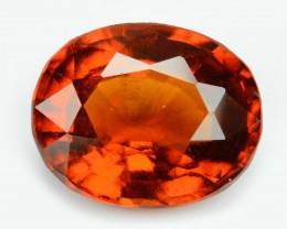 *NoReserve*Hessonite Garnet 4.11  Cts Orange Red Color Natural Gemstone