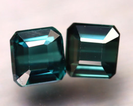 Tourmaline 1.93Ct 2Pcs Natural Indicolite Tourmaline ES0304/B48
