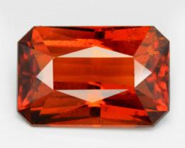 *No Reserve*7.06 Cts Orange Red Color Natural Hessonite Garnet Gemstone