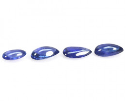 Burma Sapphire 1.13 Cts 4 Pcs Unheated Blue Color Natural Loose Gemstones