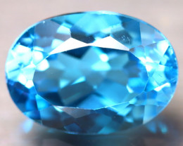 Swiss Topaz 6.60Ct Natural VVS Swiss Blue Topaz E0311/A48