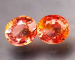 Tourmaline 2.12Ct 2Pcs Natural Reddish Orange Tourmaline EF0303/B31