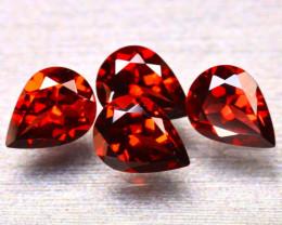 Almandine 4.97Ct 4Pcs Natural Vivid Blood Red Almandine Garnet EF0306/B1