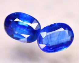 Kyanite 3.34Ct 2Pcs Natural Himalayan Royal Blue Color Kyanite EF0308/A40