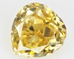 0.10 cts , Rarest Color Diamond , Loose Pear Cut