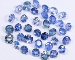 4tcw Natural Blue 3.3mm Round Ceylon Sapphire Parcel