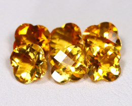 Citrine 3.67Ct VS Pixalated Cut Natural Golden Yellow Citrine Lot AB3999