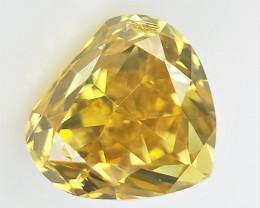 0.10 cts , Rare Fancy Colored Diamond , Loose Pear cut