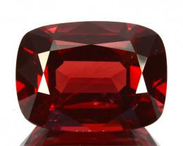 Stunning 5.81Cts Natural Sparkling Red Rhodolite Garnet Cushion Cut Mozamb