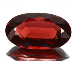 Stunning 7.00Cts Natural Sparkling Red Rhodolite Garnet Oval Cut Mozamb