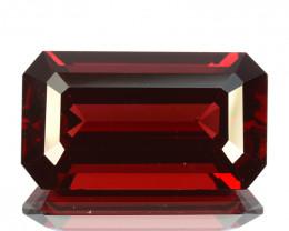 Stunning 12.98Cts Natural Sparkling Red Rhodolite Garnet Octagon Cut Mozamb