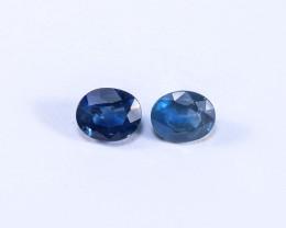 1.47tcw Natural Blue Sapphire Earrings