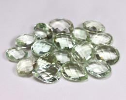 Prasiolite 42.21Ct Pixalated Cut Natural Green Amethyst Lot B3949