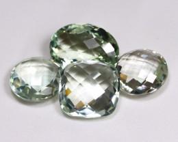 Prasiolite 38.98Ct Pixalated Cut Natural Green Amethyst Lot B3955