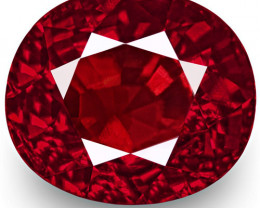 GRS Certified Mozambique Ruby, 2.01 Carats, Lively Rich Pigeon Blood Red