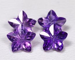 Amethyst 1.97Ct VVS Flower Cut Natural Purple Amethyst Lot B4028