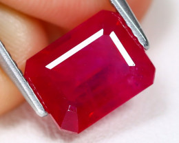 Red Ruby 3.13Ct Octagon Cut Pigeon Blood Red Ruby B3966