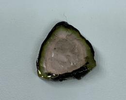 13.70 Cts Natural perfect watermelon  Tourmaline slice  Gemstone