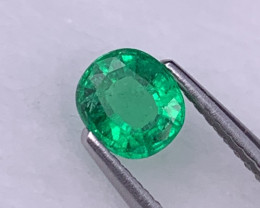 Panjshir Afghanistan AAA Grade Vivid Green Natural Emerald 0.61 Cts