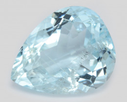 9.92 Cts Un Heated Blue  Natural Aquamarine Loose Gemstone