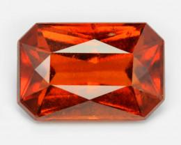 7.15 Cts  Fancy Orange Red Color Natural Hessonite Garnet Gemston
