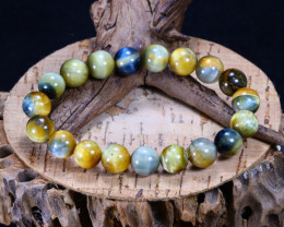 144.05Ct Natural Iron Tiger Eye Beads Bracelet AB4253
