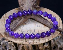 95.30Ct Natural Amethyst Beads Bracelet AB4254