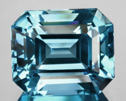 ~EMERALD CUT~ 8.44 Cts Beautiful Natural London Blue Topaz Brazil