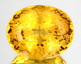 ~CUSTOM CUT~ 5.15 Cts Natural Golden Orange Citrine Fancy Oval Brazil