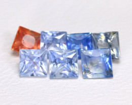 1.77Ct Princess Natural Untreated Fancy Color Sapphire Lot AB4152
