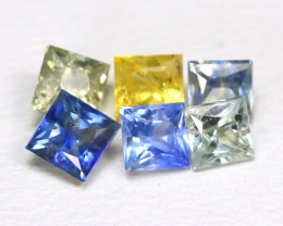 1.65Ct Princess Natural Untreated Fancy Color Sapphire Lot AB4154