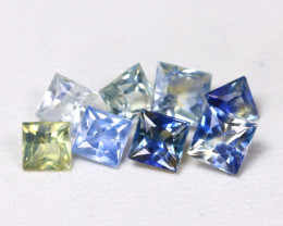 2.11Ct Princess Natural Untreated Fancy Color Sapphire Lot AB4155