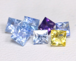 1.87Ct Princess Natural Untreated Fancy Color Sapphire Lot AB4160
