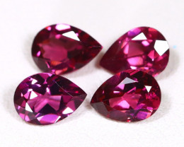 Mahenge Garnet 3.11Ct 4Pcs Pear Cut Natural Garnet Lot B4140