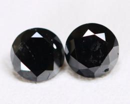 Black Diamond 0.81Ct Round Brilliant Cut Natural Black Diamond B4212