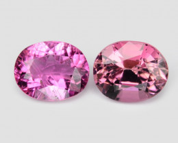 1.81 Cts 2pcs 6.65X3.14 MM Natural Pink Tourmaline Gemstone