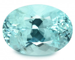 1.25 Cts GIA Certified Oval 7.99x4.45mm 100% Natural Greenish Blue Paraiba