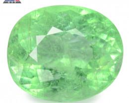 1.99 GIT Certified Oval 8.59x4.91 mm 100% Natural Green Paraiba Tourmaline