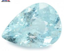 2.39 Cts GIT Certified Pear 10.73x5.13mm 100% Natural Greenish Blue Paraiba