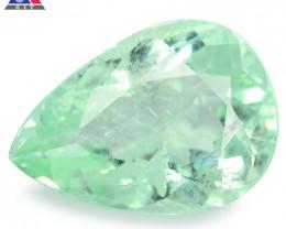 1.21 Cts GIT Certified Pear 8.60x3.84mm 100% Natural Green Paraiba Tourmali