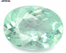 0.72 Cts GIT Certified Oval 6.83x3.25mm 100% Natural Bluish  Green Paraiba
