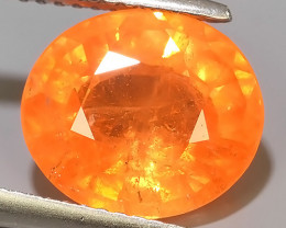 5.30 CT MARVELOUS NATURAL TOP FANTA-ORANGE OVAL SPESSARTITE  DAZZLING  $450